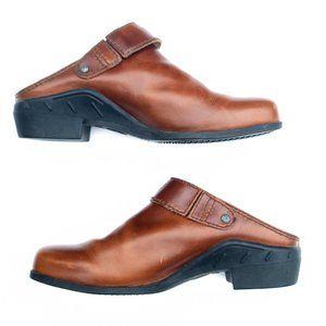 EUC Brown Leather Ariat Sport Mule – 9.5